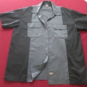 Men's XL Dickies Two-Tone Vintage Style Work Shirt